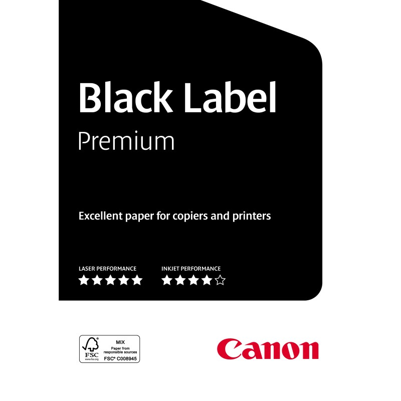 Carta Canon Black Label Zero 80g. A4 500 fogl