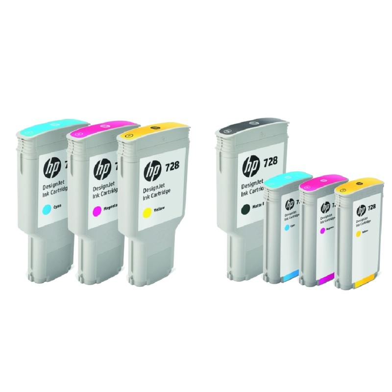 INK CARTRIDGE NO 728 YELLOW 300ML